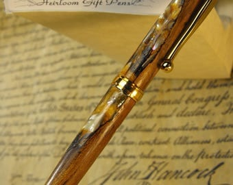 Battle of Princeton Pen – I made from a Black Locust next to the Clark House where Benjamin Rush tended the wounded after the Battle