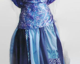 Ready 2 Ship patchwork skirt hippie skirt boho skirt bohemian skirt gypsy skirt festival skirt plus size clothing circle skirt plus size