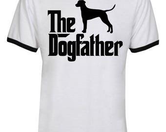 The Dogfather Dalmatian Shirt - The Dog Father Dalmatian Shirt - Dalmatian Dog - Dog Dad - Men Unisex Ringer Tee T-Shirt - IZRSUB187