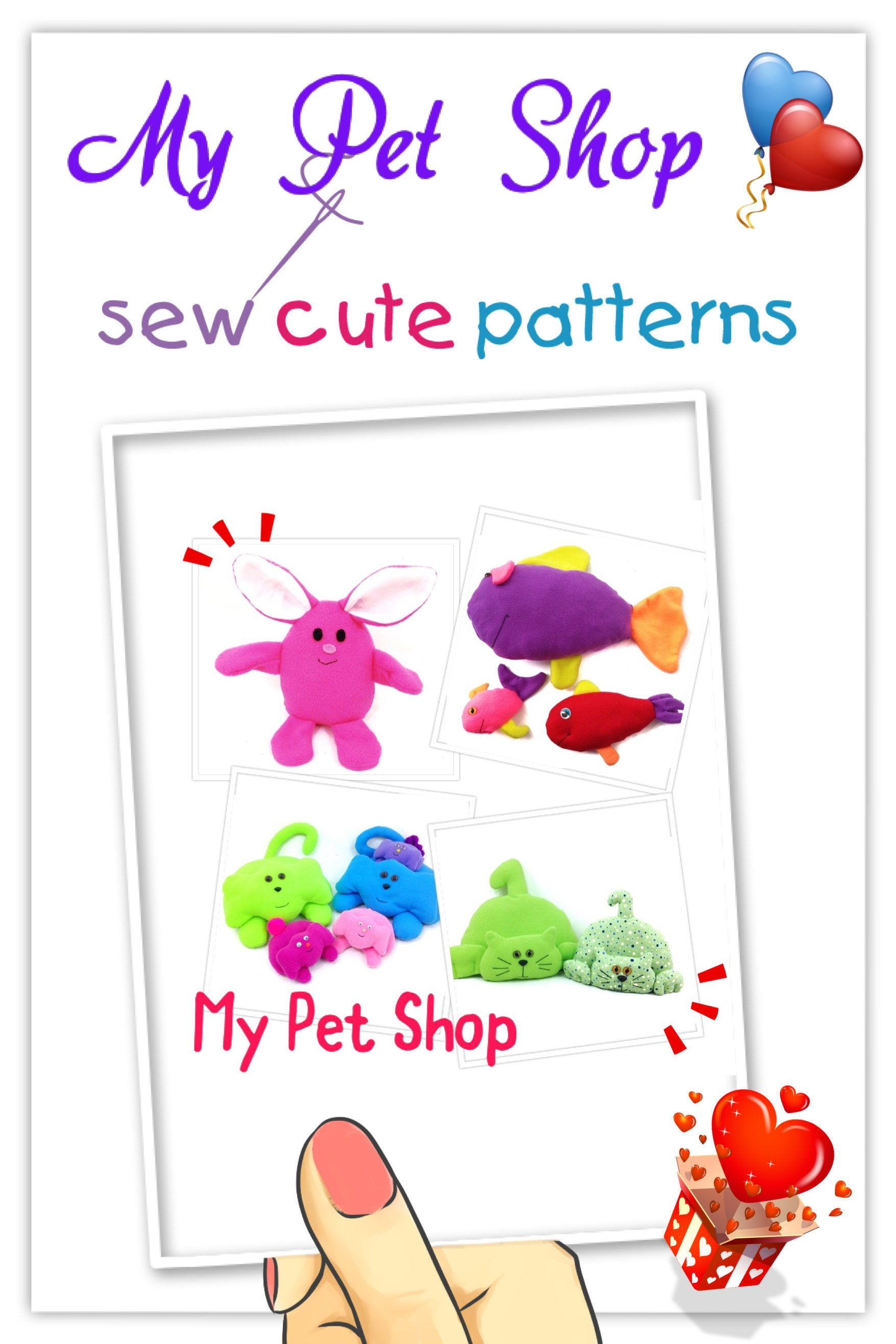 Stuffed animal patterns sewing patterns cat sewing pattern this is a digital file jeuxipadfo Image collections