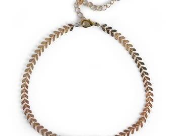 Gemstone Choker, Bar Choker, Labradorite Choker, Chevron Delicate Necklace, Modern Choker Necklace, Modern Choker Necklace, Gifts for her