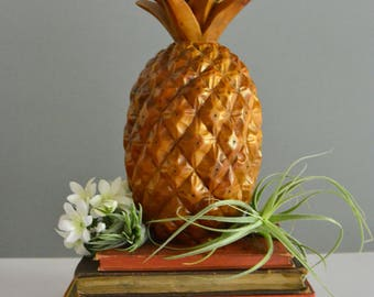 Vintage Carved Wooden Pineapple