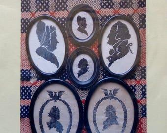 Cross Stitch Pattern | MARTHA & GEORGE WASHINGTON Miniatures | Heartstring Samplery | Counted Cross Stitch Pattern
