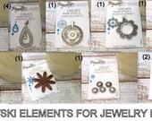CLEARANCE JEWELRY/13 Swarovski Crystal Jewelry Findings/Create Your Style with Swarovski Elements/Swarovski Pendants/Rings/Sliders