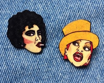 Rocky Horror Picture Show pin badge set