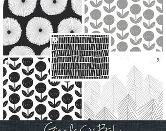 modern crib bedding black white baby nursery set monochrome sheet skirt bumper