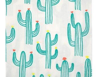Cactus Paper Napkins | Meri Meri Cactus Napkins - Set of 20