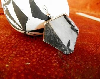 anasazi pottery shard pendant set in sterling silver