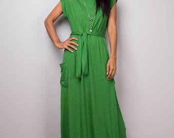 Green dress, green maxi dress, T shirt dress, turtleneck dress, tube dress, long green dress : Urban Chic Collection No.34