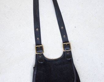 Vintage Coach Bag // Vintage Leather & Suede Coach Crescent Handbag // Free shipping!