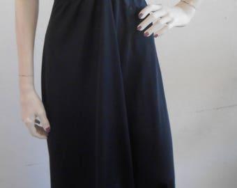Vintage Nightgown Negligee Formfit Rogers Black Size Medium