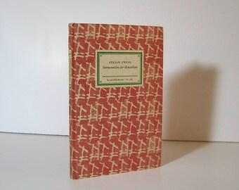 Stefan Zweig, Sternstunden der Menschheit. Fünf Historische Miniaturen, Insel Bucherei, Vintage German Book 1956 Midcentury Modern Design