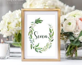Reception Table Numbers - Breezy Leaf (Style 13701)