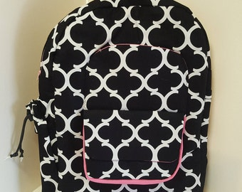 Black and White Young Ladys Backpack