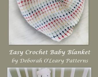 CROCHET PATTERN - Crochet Baby Blanket Pattern - Crochet Baby Blanket - Baby Afghan - Little Jewels - #Crochet #Patterns by Deborah O'Leary