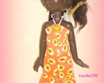 "Handmade Doll Clothes for 16"" Connie Lowe BJD Eppie Marta Lizzie, Summer Fashion, Bold Floral Jumpsuit, Hair clip, by traveller240"