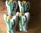 Organic Cotton Cactus Pillow Toy - Soft Toy - Plush Cactus - Decorative Pillow