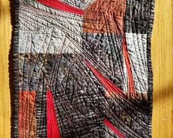 Wildfire quilted wall hanging