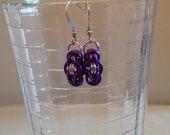 Purple Diamond Byzantine Earrings