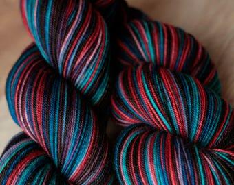 "Sock yarn - 70/20/10 SW Merino/Yak/Nylon - Autocorrect - ""So Tired Of Your Shirt"""