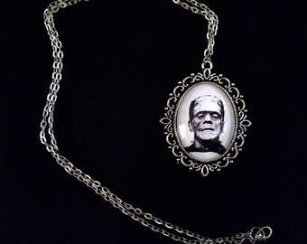 Frankenstein's Monster Necklace - Original Graphite Portrait