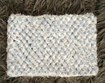 Fluffy Cloud Puff-Stitch Cowl Scarf by MW