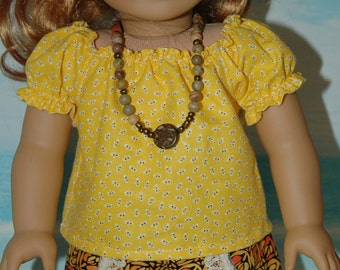 American, made, girl, doll, clothes, peasant, blouse, shirt