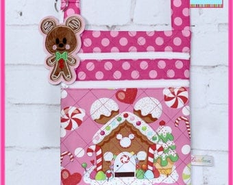 Disney Bag Mickey Gingerbread house with Mickey Gingerbread Dangle~