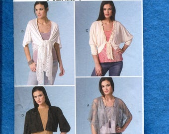 Vogue 9121 Designer Layering Tops for Day & Evening Size XS..X..M UNCUT