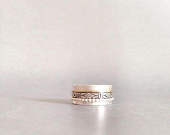 Spinner Ring - Mixed Metal Ring