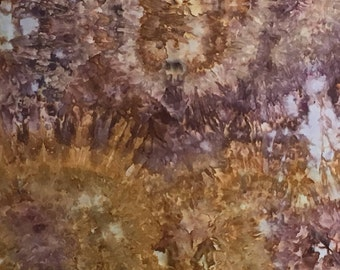 Hand Dyed Fabric, Ice Dyed Cotton Quilt Fabric, 1/2 Yard (MB) #161