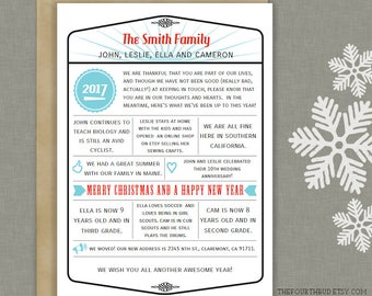 The fourth bud beautiful printable templates in by thefourthbud 5x7 year in review christmas newsletter template in pdf for print retro pronofoot35fo Choice Image