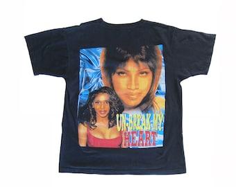 vintage t shirt / Toni Braxton shirt / 90s hip hop clothing / 1990s Toni Braxton Un-Break My Heart t shirt Large