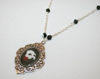 Phantom of the opera necklace * Elegant Curiosities * silver plated metal