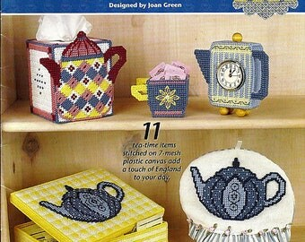 Tea Lover's Collection Plastic Canvas Pattern Book Annie's Attic 872571