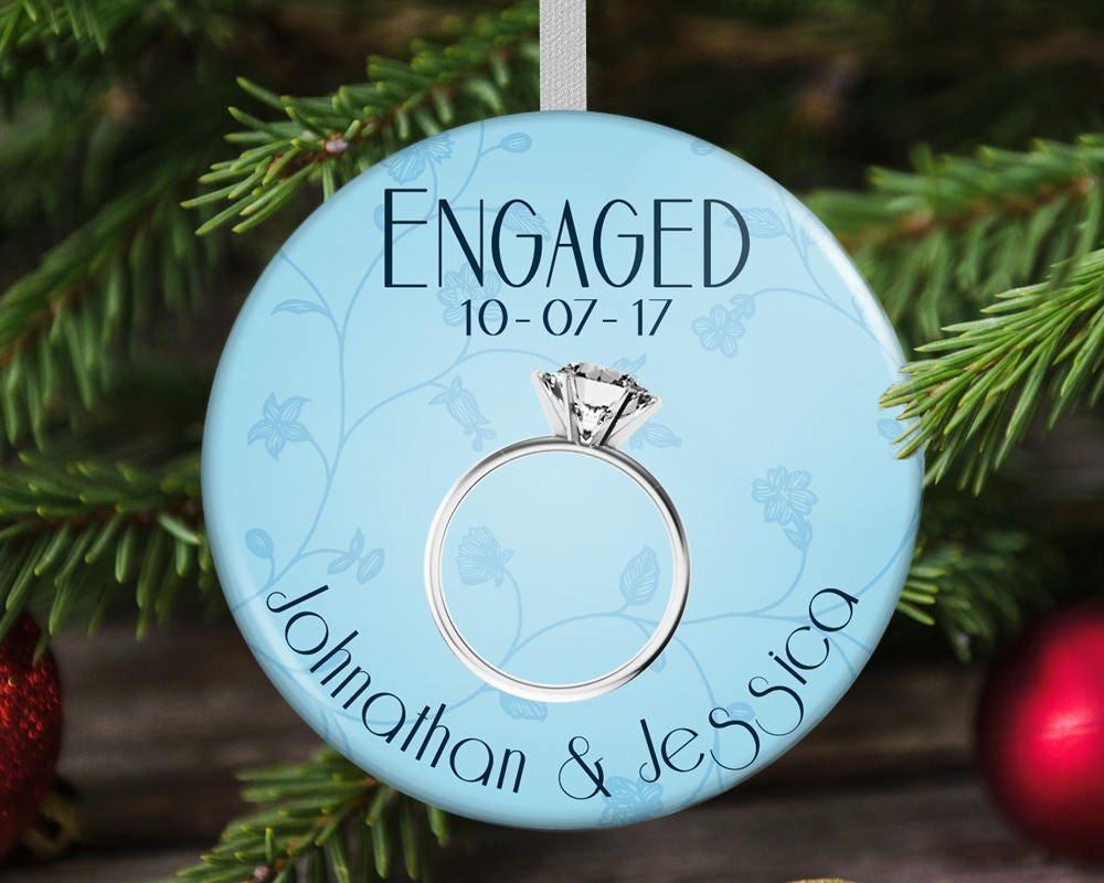 Engaged Christmas Ornament Engagement Christmas Gift