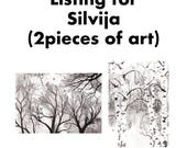Listing for Silvija (2 pieces of art)