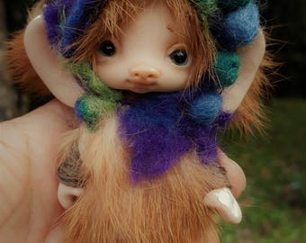 sweet  ooak posable fair skin  tiny   fairy fairie fae mouse