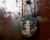 Vintage Birger Astrom wall plaque - woodland tree - 1950s Swedish Scandinavian pottery - midcentury Danish modern home decor