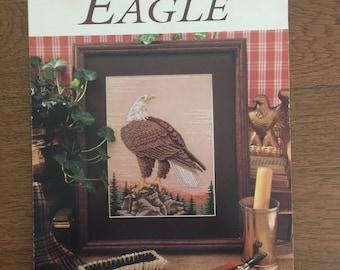 Eagle Cross Stitch Pattern, American Bald Eagle Needlework Chart by Cathy Livingston