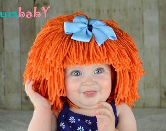 Cabbage Patch Costume, Pageant Costumes, Photo Props, Halloween Costumes, Yarn Wigs