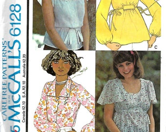 McCall's 6128 Misses Set Of Tops Pattern, Size 22, UNCUT