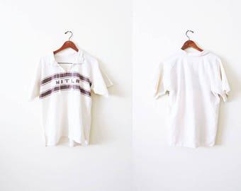Embroidered Mexican Shirt / White Cotton Mexican Shirt / Mitla / Summer Clothing / Boho Shirt / Mens Mexican Shirt