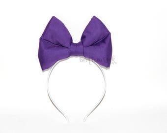 Daisy Bow || Daisy Duck Bow || Big Purple Bow || by Born Tutu Rock