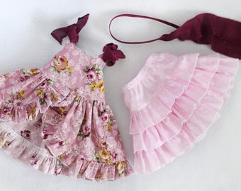 Pink Dress skirt set Princess for Disney Animator doll