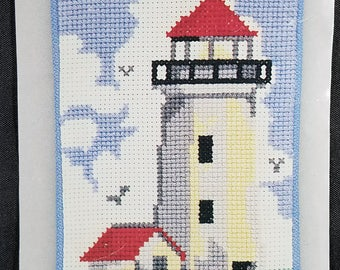 Lighthouse Eyeglass Case Counted Cross Stitch Kit