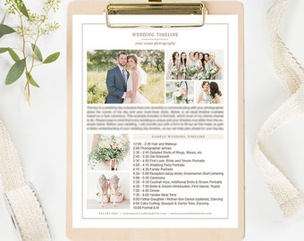 Photography Wedding Timeline Template, Wedding Timeline Printable, Wedding Photography Templates, Wedding Photography Forms Organic Set
