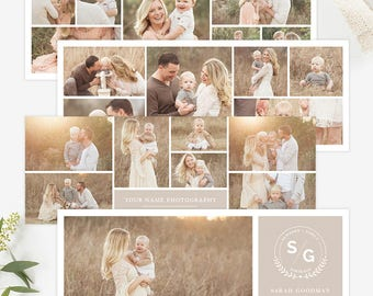 Collage Facebook Cover Templates for Photographers, Facebook Timeline Cover Templates Photoshop, Facebook Cover Photo, Header Template FB197