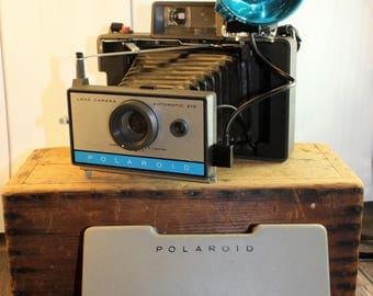 Polaroid Land Camera, 210 Land Camera, Instant Camera, Vintage Camera, Automatic, Industrial Decor,  Folding Camera, Accordion Camera