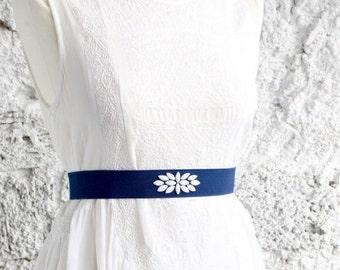 Wedding Belt, Bridal Belt, Bridal Sash, Sash Belt, Blue Belt, Waist Belt, Bridesmaid Sash, Customized Belt, Plus Size Fashion
